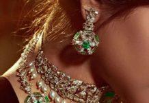 diamond emerald necklace birdhichand