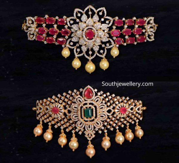 diamond ruby choker plus bajuband designs