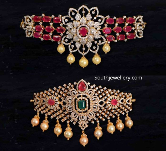 diamond ruby choker plus bajuband designs