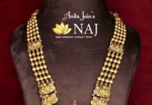 gold balls haram with ;akshmi pendant