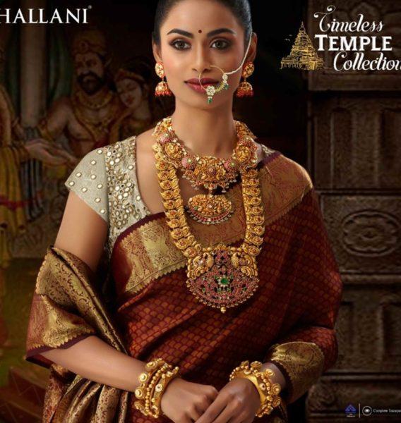 gold jewellery set by challani