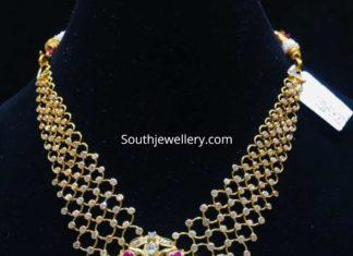 gold links necklace shubham