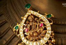 lakshmi gold pendant
