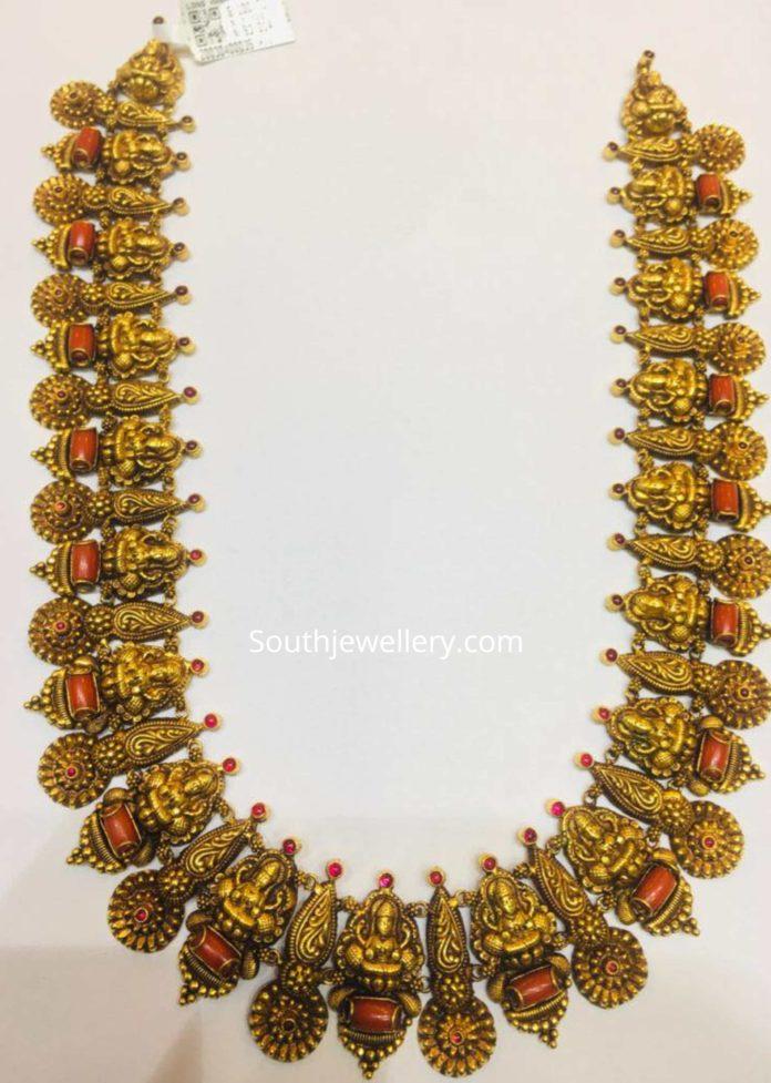 lakshmi haram with corals
