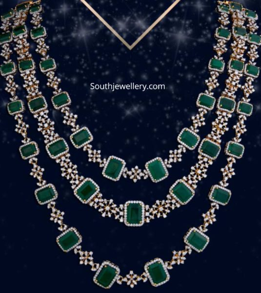 layered diamond emerald haram