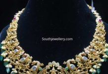 peacock gold necklace shubham