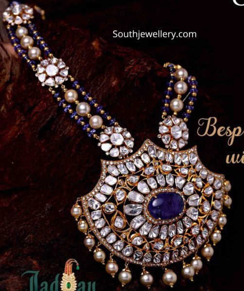 polki diamond jadau necklace