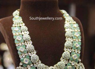 polki emerald jadau necklace