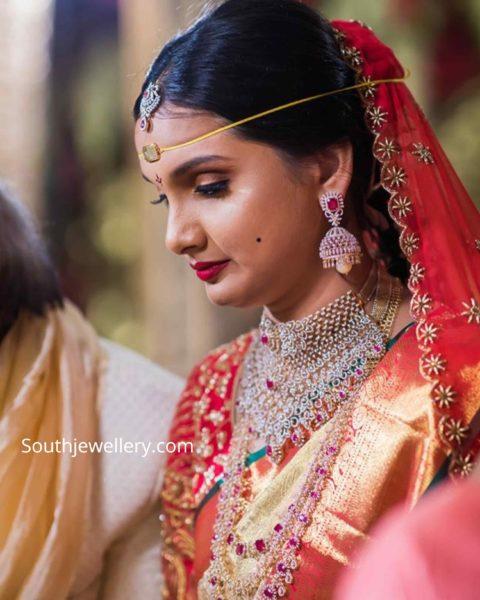 south indian bride parnicaa diamond jewellery