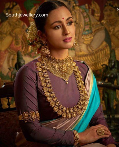 temple jewellery set 22k gold (1)