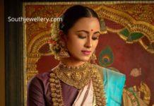 temple jewellery set 22k gold