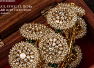 uncut diamond and pearl bangles