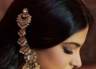 uncut diamond earrings with ear chains