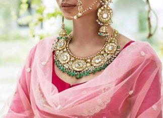 uncut diamond jewellery set