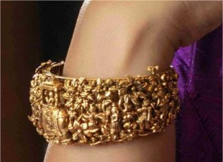 antique gold nakshi kada