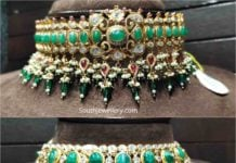 cz emerald choker designs
