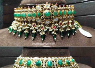 cz emerald choker designs