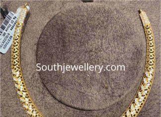 cz kante necklace with lakshmi pendant