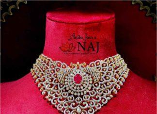 diamond choker by naj jewellery