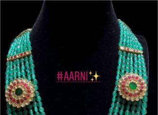 emerald beads mala (1)