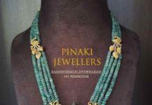 emerald beads mala by pinaki jewellers