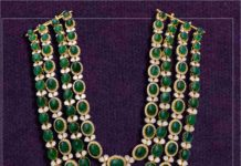 emerald polki layered haram