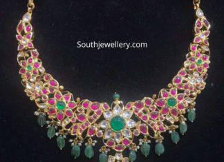 floral kundan necklace
