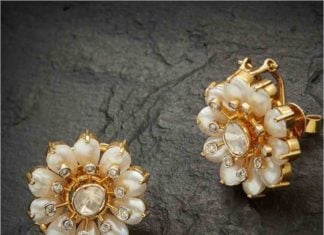 floral pearl studs