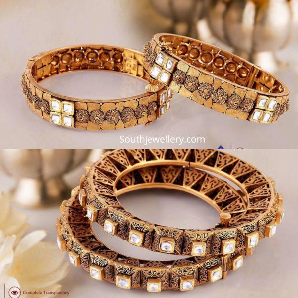 gold bangle designs by challani jewellery mart