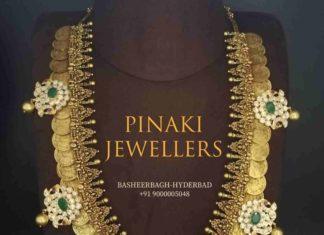kasu haram with removable pendants