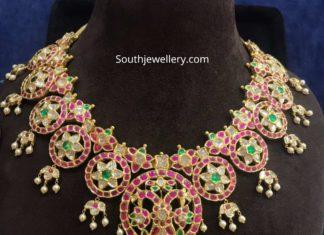 kundan bottu necklace