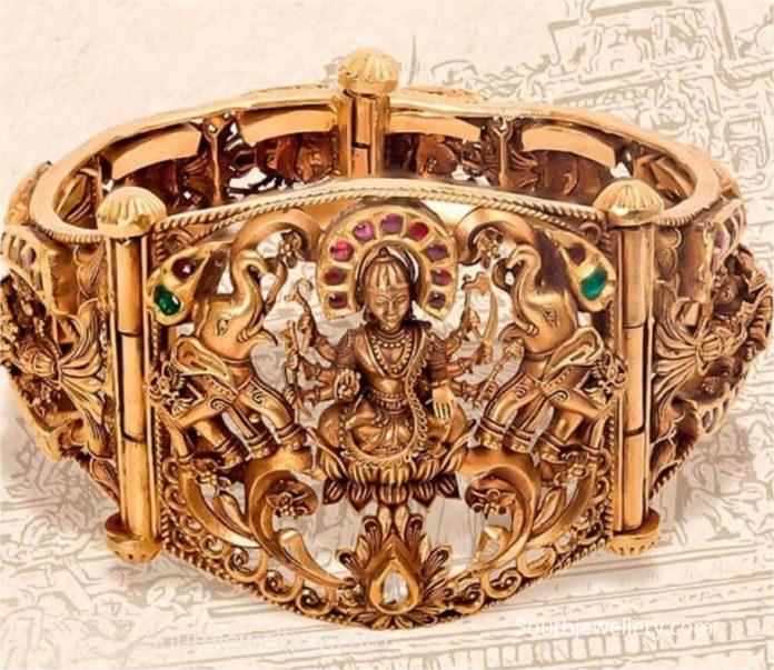 lakshmi broad gold kada