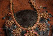 lakshmi ruby emerald necklace
