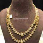 layered uncut diamond necklace