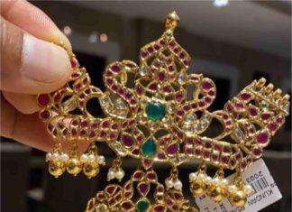 peacock kundan pendant (2)
