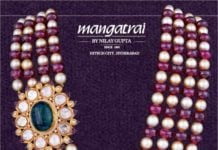 pearl and ruby beads mala