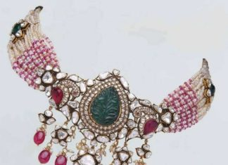 pearl choker with polki pendant (1)