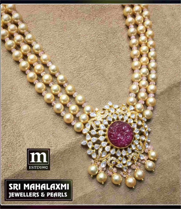 South Sea Pearls Necklace Latest Jewelry Designs Indian Jewellery Designs