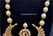 pearl necklace with puligoru pendant