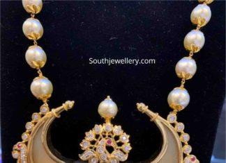 pearl necklace with puligoru pendant