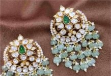 polki diamond earrings