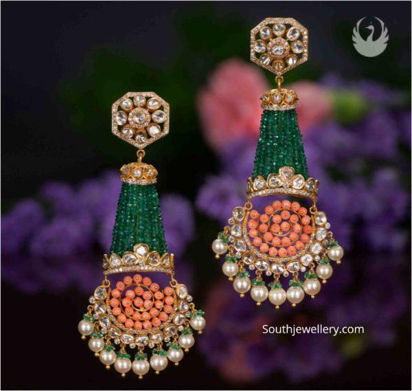 tassel earrings 22k gold with beads (1)