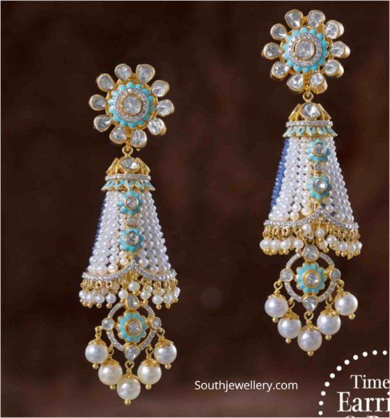 tassel earrings 22k gold with beads (3)