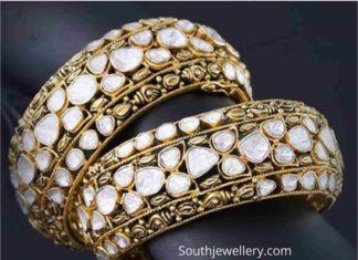 uncut diamond broad bangles