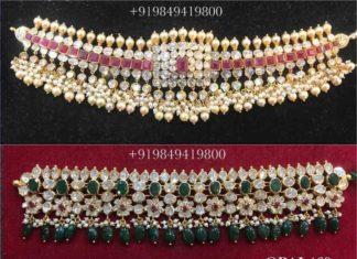 uncut diamond choker designs