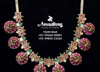 ruby bottu necklace