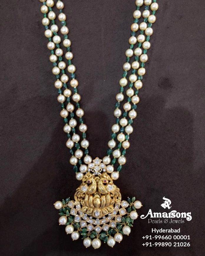 pearl mala with pendant