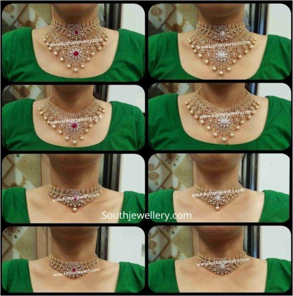 4 in 1 multi purpose diamond choker designs