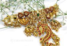 antique gold choker (1)