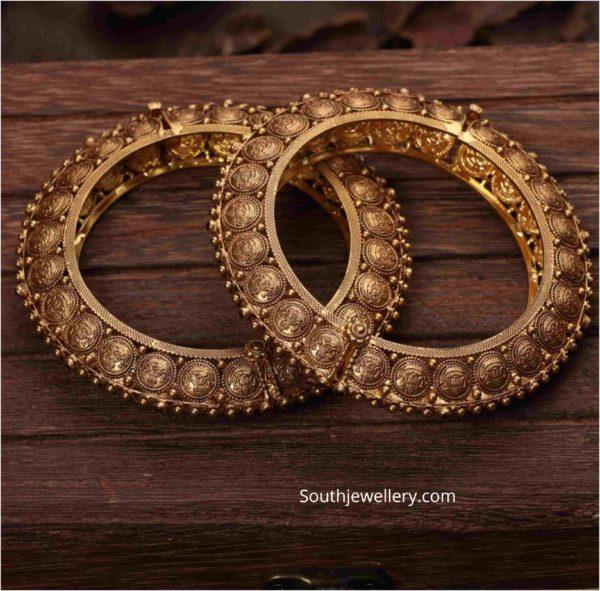 antique gold lakshmi bangles
